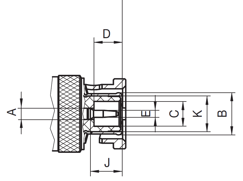 bnc connector drawing