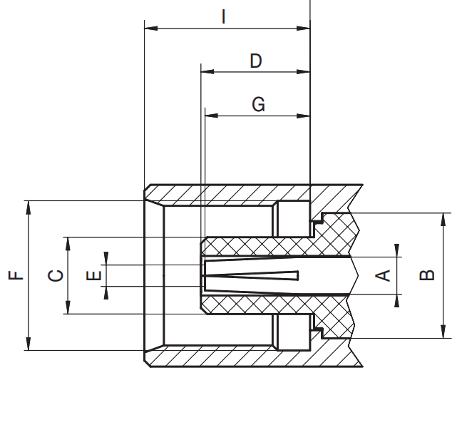 MCX female socket RF connector CAD drawing
