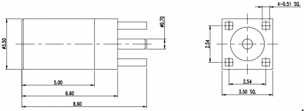 MMCX-F-S-PCBTH_001 CAD Drawing
