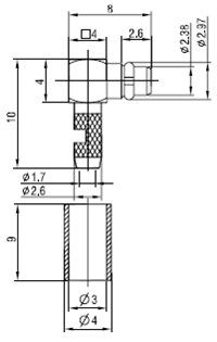MMCX-C-JW1.5-6 CAD Drawing