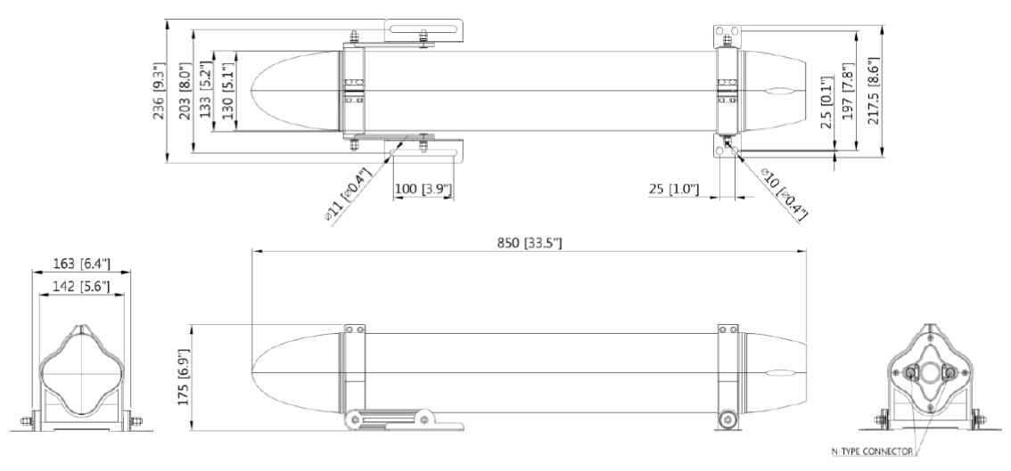 GN-IYF7-11HV-MIMO CAD Drawing