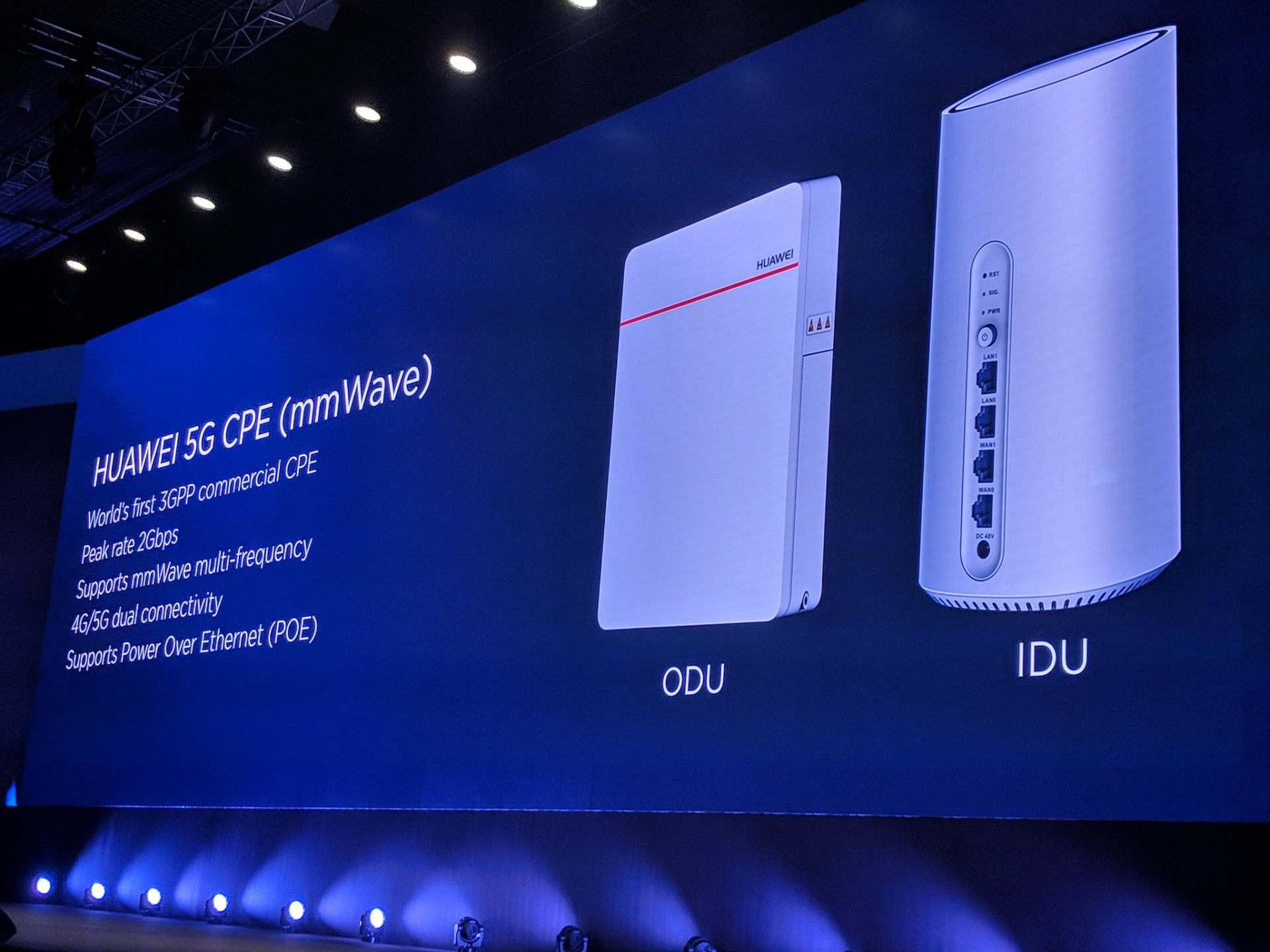Huawei releases first 5G customer-premises equipment