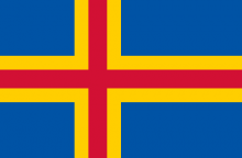 Aland Islands Finnish Flag