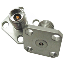 2.92 mm female four hole flange mount connector