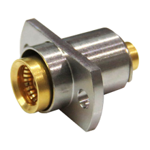 "BMA female straight two hole flange solder connector for 0.141"" semi rigid semi flexible cables"