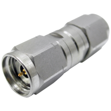 2.4 mm male to 2.4 mm male Q precision adapter