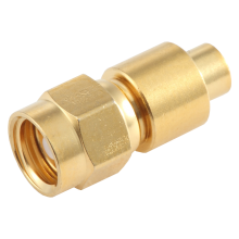 "SMC female straight solder connector for 0.086"" semi rigid and semi flex cable"