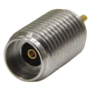 2.92 mm female K connector thread in mounting with round post