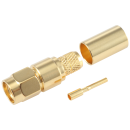 RP-SMA male straight crimp connector for LMR240 coaxial cable