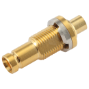 "1.0/2.3 Type-A screw on female straight solder connector for 0.086"" semi flexible/rigid cable"