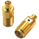 SMA female to MMCX female precision adapter