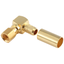 SMC female right angle crimp connector for RG58 coaxial cable
