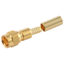 SMC female straight crimp connector for LMR100, RG174, RG316 coaxial cable