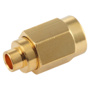 "SSMA male straight solder connector for 0.086"" semi-flexible and semi-rigid cable types"