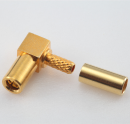 SSMB female right angle crimp connector for LMR100 RG174 RG316 cable