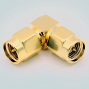 SMA Male to SMA Male Right Angle Adapter